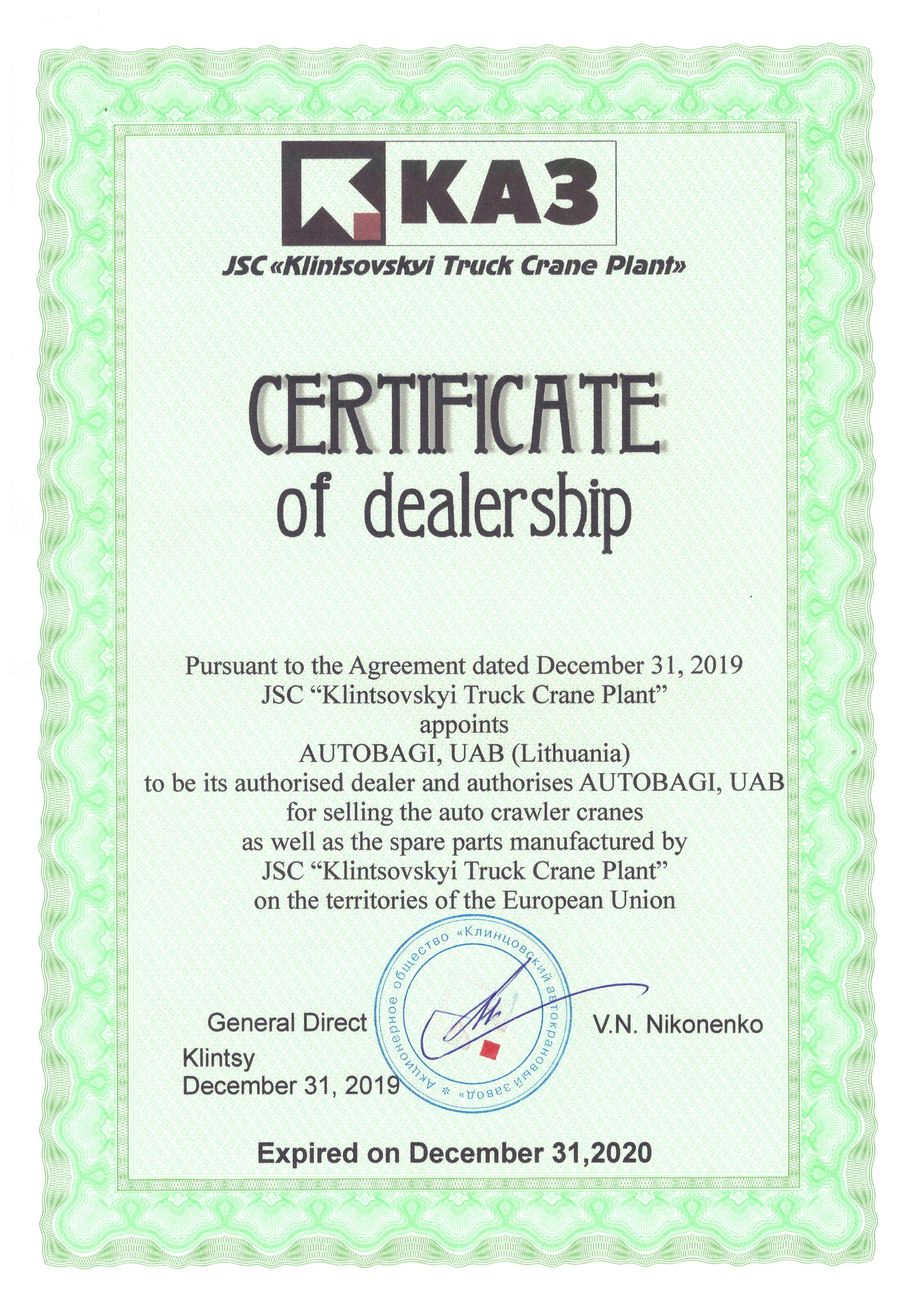 "Autobagi - ""AUTOBAGI"" is official representative of JSC ""Klintsovsky"